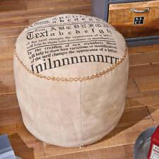 Sitzkissen Baumwolle Beige Vintage Sitzhocker Stoffhocker NEU