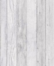 Grandeco Wallpaper - Luxury Wood Panel Effect - Textured Vinyl - Grey  - A17402