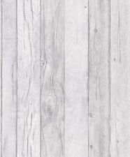 Papel Pintado Grandeco-Efecto De Lujo Panel de Madera-Vinilo Con Textura-Gris-A17402