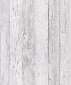 Grandeco Wallpaper - Luxury Wood Panel Effect - Textured Vinyl - Grey  - A17402