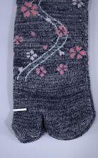 足袋ソックス TABI SOCKS - Chaussettes japonaises - Grey Sakura 35/38 - Import Japon