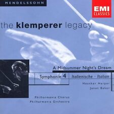 Mendelssohn A Midsummer Night's Dream Sym No 4 Klemperer (CD 1999) 724356703827