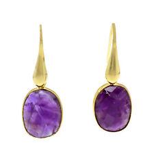 Castellano Jewels Pendientes con Amatistas Natural Plata 925