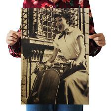 Hot Audrey Hepburn Kraft Paper Poster Shop Wall Decor Art Print Design Movie