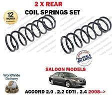 FOR HONDA ACCORD SALOON 2.0 2.4 2.2 CDTI DTEC 2008-> 2 X REAR COIL SPRINGS SET