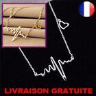 Femme chaîne Collier électrocardiogramme palpitation pendentif Coeur Bijoux Neuf