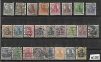 #6102  Early Stamp collection / 25 different / Germania / Weimar / Germany / WWI