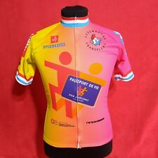 Cycling Body Jersey t-shirt Full Zip Short Sleeve multicolored Luxembourg Size M