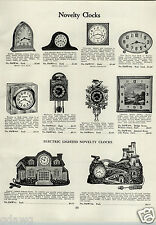 1933 PAPER AD Waterbury Store Office Regulator Clock Novelty Castle Cottage