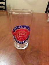 lot of 2 canadian centennial glasses~1954 and 1967~mid-century barware~RARE~WOW!