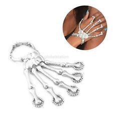Punk Gothic Devil Talon Skeleton Skull Bone Hand Finger Ring Slave Bracelet Cuff