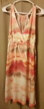 Women's Sleeveless Empire Waist, Multicolored Dress, Size M   B15/