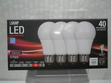 Feit A19 40-Watt LED Dimmable Light Bulb (4 Pack) - Warm White.