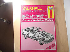 VAUXHALL ASTRA & BELMONT HAYNES MANUAL Oct 1984 to Sept 1986