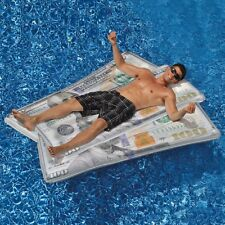 Money Mat Ben Franklin Giant Pool Float Raft Swimline 90523 Beach Inflatable