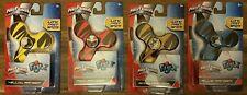 Lot of 4 Power Rangers Ninja Steel Fidget Spinners by Fijix Red Yellow Blue Gold