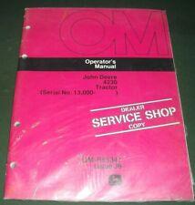 John Deere 4230 Tractor Operation & Maintenance Manual S/N 13,000-Up