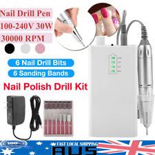 Portable Rechargeable Electric Nail Drill Machine 30000 RPM Manicure Machine AU