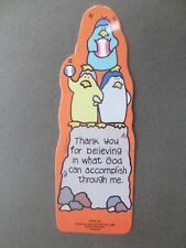 BOOKMARK Religious Shaped PENGUINS Thankyou for Believing in What God Can Accomp