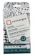 Sakura 50110 Zentangle 12 Piece Tool Set with 3.5 Inch Tiles