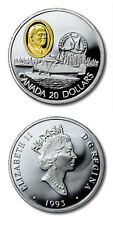 Canada Fairchild 71-C Float Plane $20 1993 Aviation Proof Silver Crown Gold Inse
