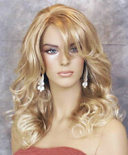 Strawberry Blonde mix  Big Curly Wavy Glamorous New Wig w Bangs BL 27-613