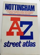 NOTTINGHAM A-Z STREET ATLAS  INDEX IN GOOD COMPLETE CONDITION 1991 ed