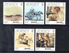 Jersey estampillada sin montar o nunca montada 1986 SG397-401 Nacimiento Centenario de Edmund blampied