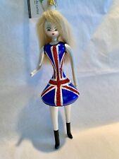 """New Soffiera de Carlini """"British Girl"""" Spice Girl Christmas Ornament NIB NWT"""