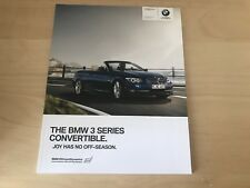 BMW 3 SERIES CONVERTIBLE BROCHURE 2010 - BRAND NEW