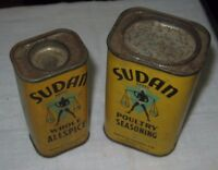 Vintage Sudan Brand Poultry Seasoning And Whole Allspice By Wesco Foods Co.