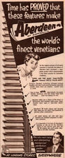 1956 A AD AUSTRALIAN  ABERDEEN VENETIAN BLINDS HOME FURNISHING