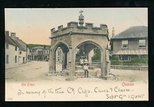Somerset CHEDDAR The Old Cross  local children 1904 PPC