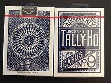 Carte à jouer  Tally-Ho   Circle Back    n°9    bleu