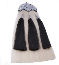 White Horse Hair Long Sporran with Three Tassels Chain & Belt - Scotland Kilt
