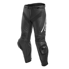 Dainese Delta 3 Leather Pants Jeans Black/White