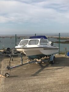 SeaHog Hunter Fishing Boat with 50HP Mariner Outboard and Trailer