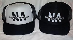 Negative Approach Hat punk kbd meatmen ssd gang green necros hardcore cro mags