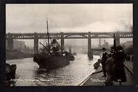 Newcastle upon Tyne - River Tyne & Bridges - plainback RP postcard size