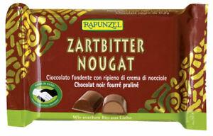KS (25,00/kg) 6x Rapunzel Zartbitter Nougat Schokolade HIH bio 100 g