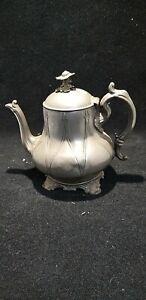 Antique Pewter Teapot Possibly Philip Ashbury & Sons Britannia
