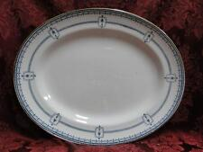 Royal Doulton Mina, Dark Blue Swags, Circles, Urns: Oval Serving Platter, 11""