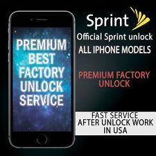 SPRINT PREMIUM FACTORY UNLOCK SERVICE IPHONE 6s+ 6s SE UNPAID BILLS ALL 100%