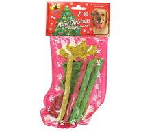 K9 Kitchen Munchy Stocking 8 Christmas Rawhide Dog Chew Treats