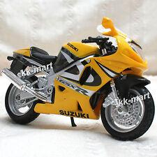 Suzuki GSXR 750 Yellow  Diecast Die Cast Motorcycle Scale 1:18 GS014