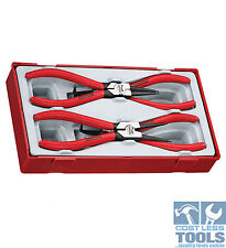 """Teng Tools 4 PCE Mega Bite 7"""" Circlip Plier Set Tt474-7"""