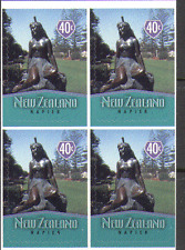 New Zealand 1998 Town Icons/Statue/Art 4v blk (n15988)