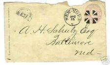 1866  three cents  CANCELED  STAMP  LETTER  COVER