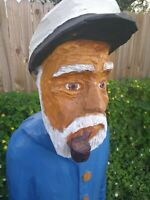 Hand carved sea ship captain home decor sculpture carving - #113 4ft tall 80lb