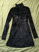 Kimchi Blue Women's Black Velvet Dress Size S Small Good Used Condition